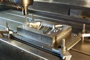 Industrial metal mold milling